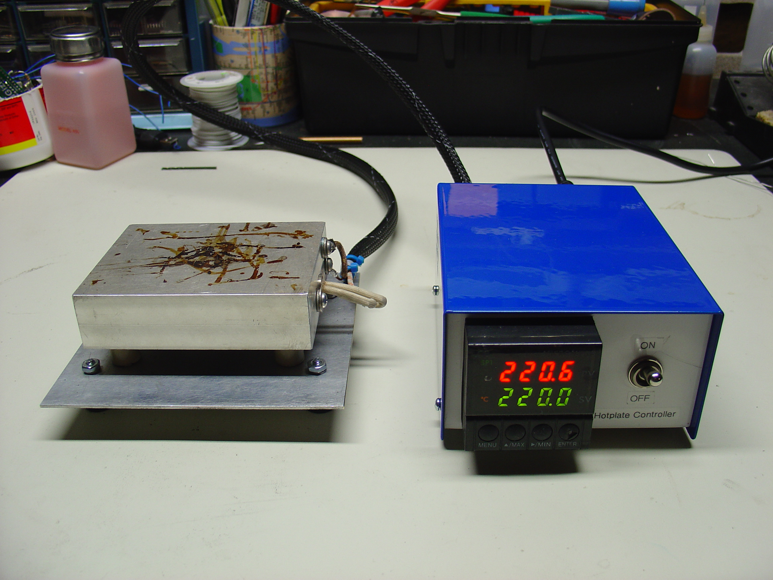 Diy Pid Controlled Soldering Hotplate Mightyohm Infrared Remote Control Tester Electronicslab
