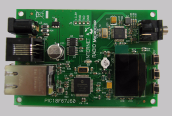 Microchip Internet Radio Demonstration Board
