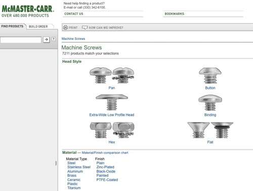 New McMaster-Carr Website