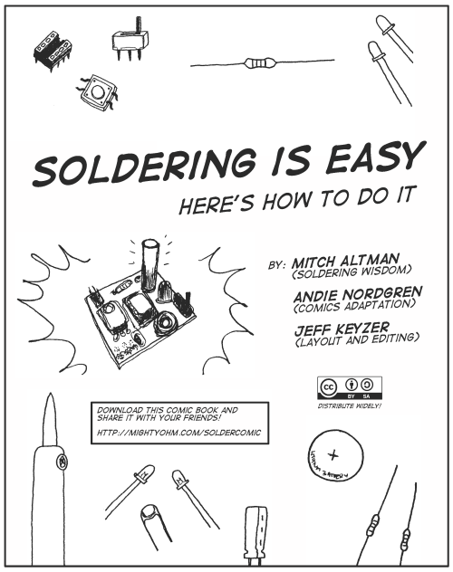 "Announcing the ""Soldering is Easy"" Complete Comic Book!"