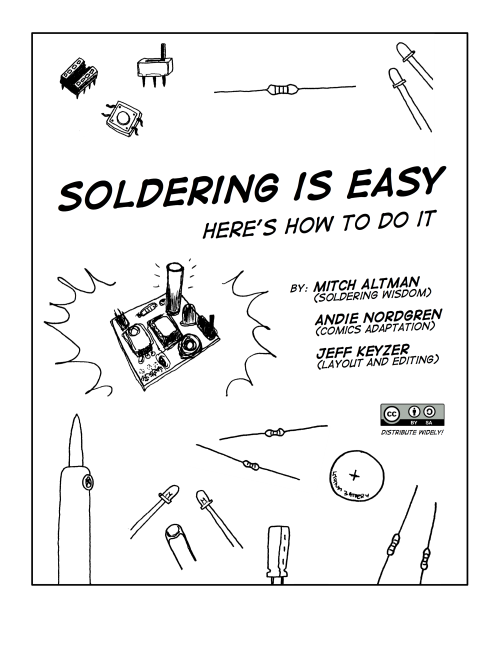 "Cover page to ""Soldering Is Easy!"""