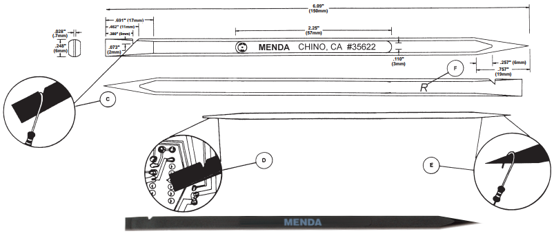 Menda 35622 Spudger