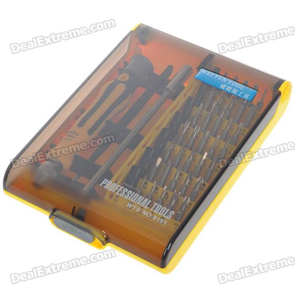 Multi tip screwdriver set